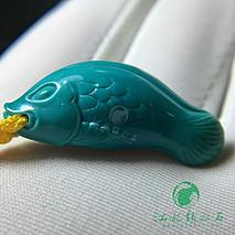 新品鲤鱼包挂 原矿绿松石高瓷蓝玉化料,无水无油干拍,干净无线 做包挂手机挂钥匙挂都非常
