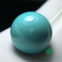 精品绿松石圆珠 原矿高瓷 喇叭山果冻料 上手玉化 直径18.4mm 重9.1克